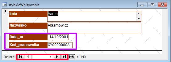 Formularz - Microsoft Access 2003 kurs online