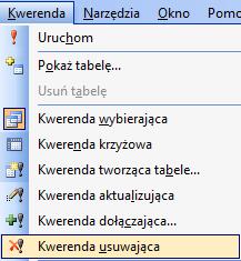 Kwerenda Usuwająca - Microsoft Access 2003 kurs